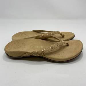 Vionic Women's Tan Flip Sandals Size 9 (A128)